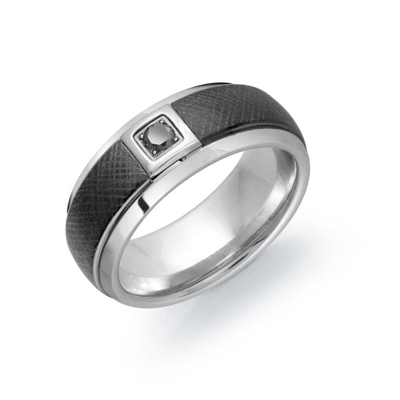 Signature Tungsten & Black Diamond Ring