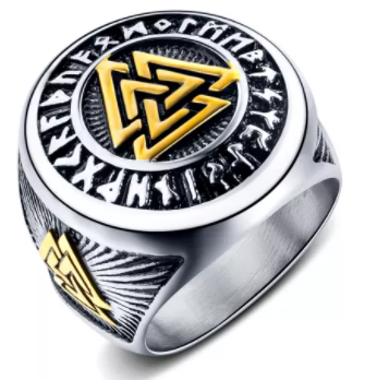 Retro Viking Men's Triangle Ring