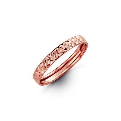 Diamond Cut RoseGold Band