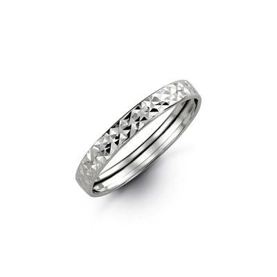 Diamond Cut WhiteGold Band