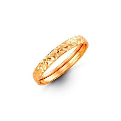 Diamond Cut YellowGold Band