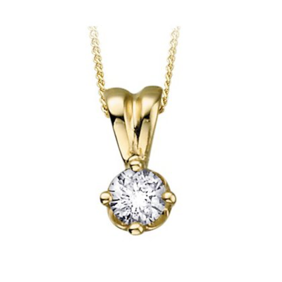 (0.15cttw) Yellowgold Solitaire Necklace