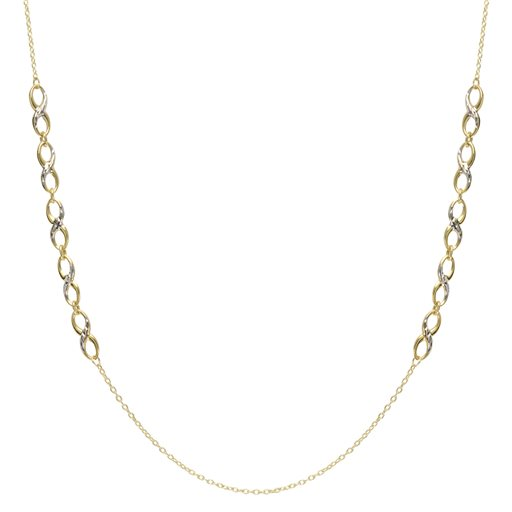 Two-Tone Infinity Necklace