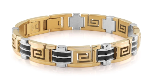 TwoTone  Greek Key Bracelet