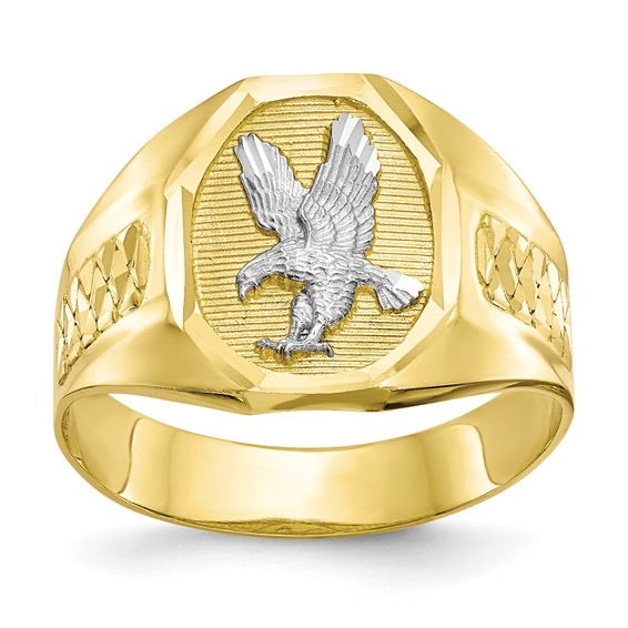 Two Tone Eagle Ring