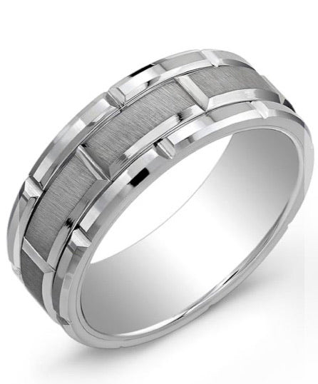 Tungsten Carbide Comfort Fit Matte Ring (( The centre Forge Ring))