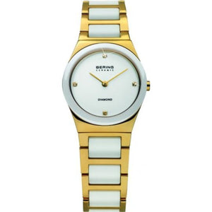 Bering Women White Ceramic and Gold | 32230-701 (Limited Edition)