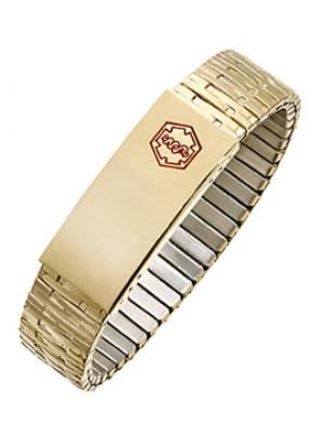 Gold Plated Expansion Medical ID Bracelet