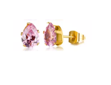 Stainless Steel BirthStone Stud Earrings (February)