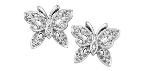 (0.5cttw) Butterfly Diamond Studs