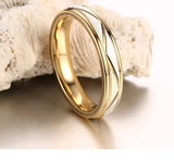 Two Tone Stainless Steel Band Eternity Band