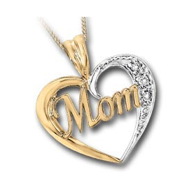 (0.02CT) Yellowgold Mom's Necklace