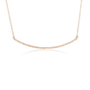 Rosegold Curved Bar Necklace