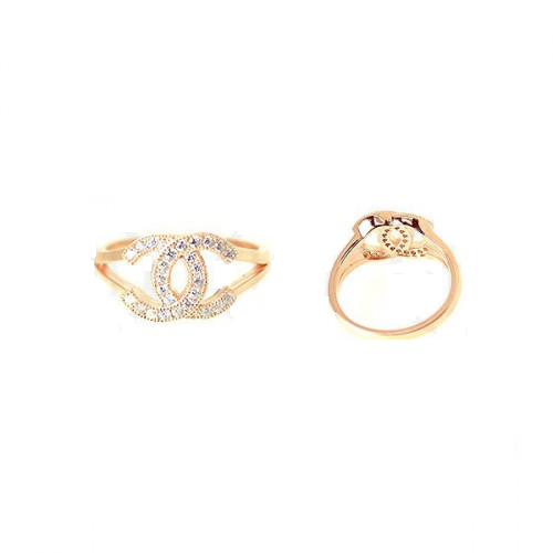 Rose Chanel Inspired CZ Rings