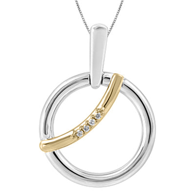 (0.015ct) Gold and Silver Canadian Diamond