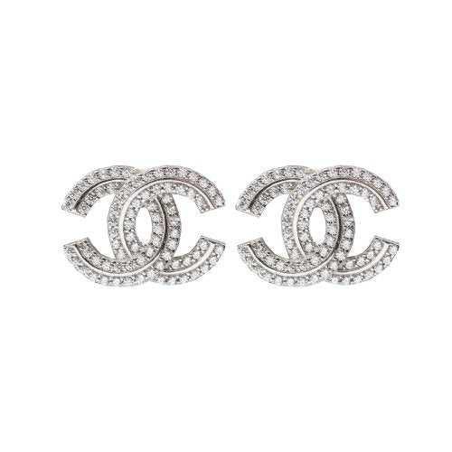Chanel Inspired CZ Studs