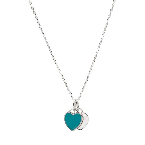 Tiffany inspired Double Heart Necklace