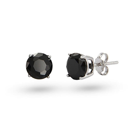 7mm Black CZ Studs