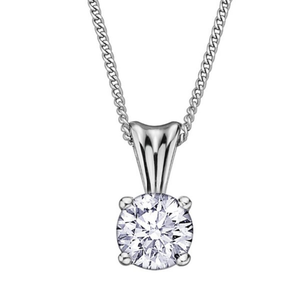(0.15cttw) Whitegold Solitaire Necklace