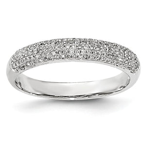 (0.60Cttw) WhiteGold and Diamond Band