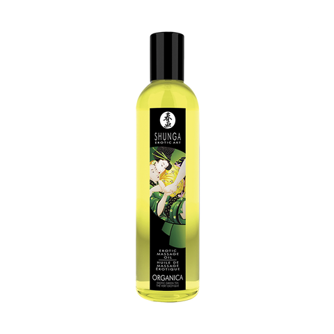 Shunga Organic Massage Oil - Erotic Green Tea (250ml)