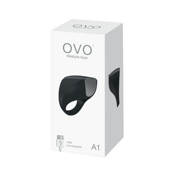 Ovo A1 Rechargeable Vibrating Ring Package