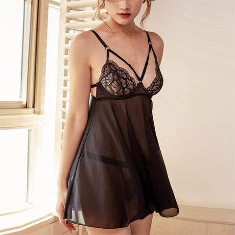Little French Tease - Sexy Black Slip