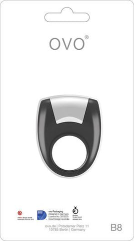 Vibrating Silicone Cock Ring OVO B8