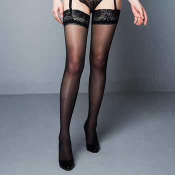 From Paris with Love - Lace Detail Hold Ups