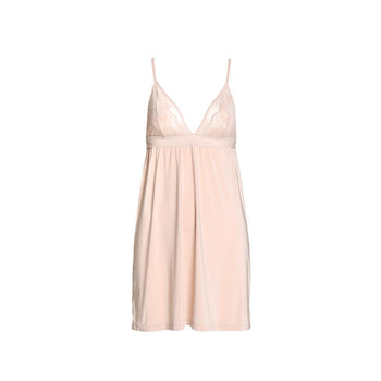 Baby Doll Me - Light Peach Tone Slip and Thong Set