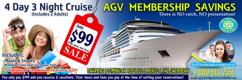 "AGV Platinum Membership • 2 Vacations as Gift ""Have an Exciting vacation"""