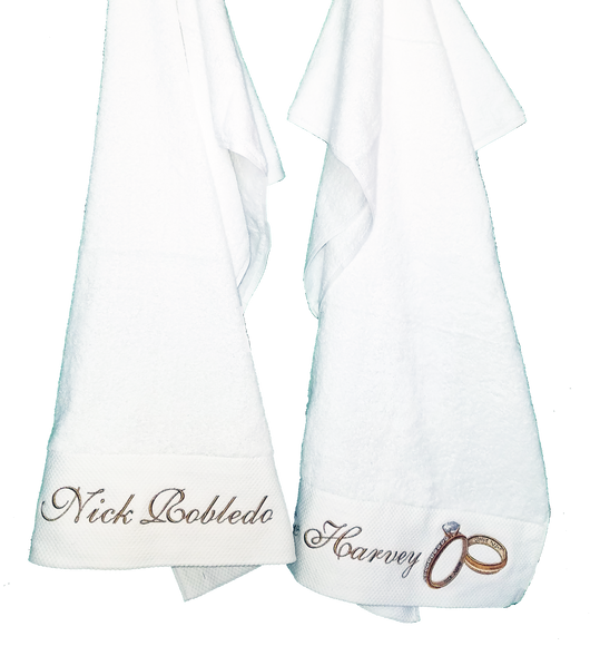 Wedding Rings 2 Towel Combo