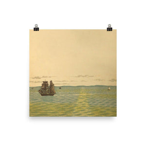 Out to Sea Vintage Art Poster-Art Poster-Venture Modern-10 x 10-Enhanced Matte Paper-Venture Modern