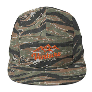 "Venture Modern ""Venture"" Five Panel Cap-U hat-Venture Modern-Green Tiger Camo-Orange-Venture Modern"