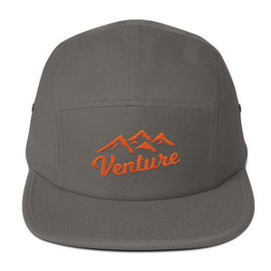 "Venture Modern ""Venture"" Five Panel Cap-U hat-Venture Modern-Grey-Orange-Venture Modern"