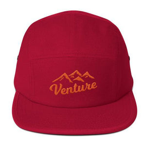 "Venture Modern ""Venture"" Five Panel Cap-U hat-Venture Modern-Red-Orange-Venture Modern"