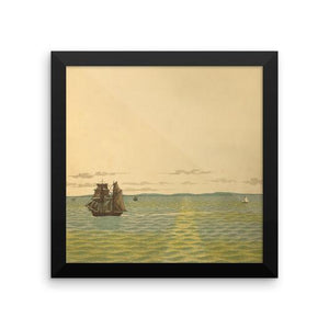 Out to Sea Vintage Art Poster-Art Poster-Venture Modern-10 x 10 w/ frame-Enhanced Matte Paper-Venture Modern
