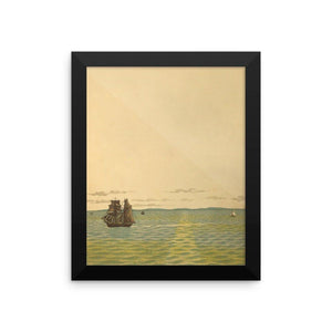 Out to Sea Vintage Art Poster-Art Poster-Venture Modern-8 x 10 w/ frame-Enhanced Matte Paper-Venture Modern