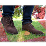 Nubuck Leather Casual Lace Up Desert Chukka Ankle Boot-boot-Venture Modern-Venture Modern