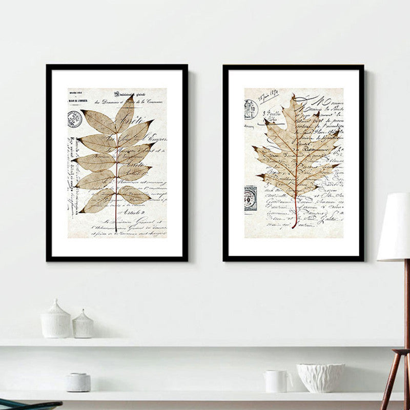 Botanical Leaves Abstract Canvas Art Poster-Art Poster-Venture Modern-Venture Modern