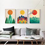 Modern Sunrise Canvas Art Poster-Canvas-Venture Modern-Venture Modern