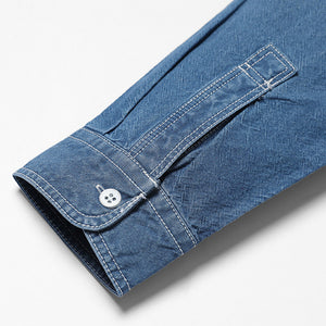 Long Sleeve Denim Button Up-denim-SIMWOOD-Venture Modern