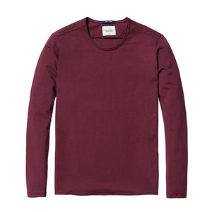 Spring Long Sleeve T-Shirt-Shirt-SIMWOOD-deep burgundy 2nd-L-Venture Modern