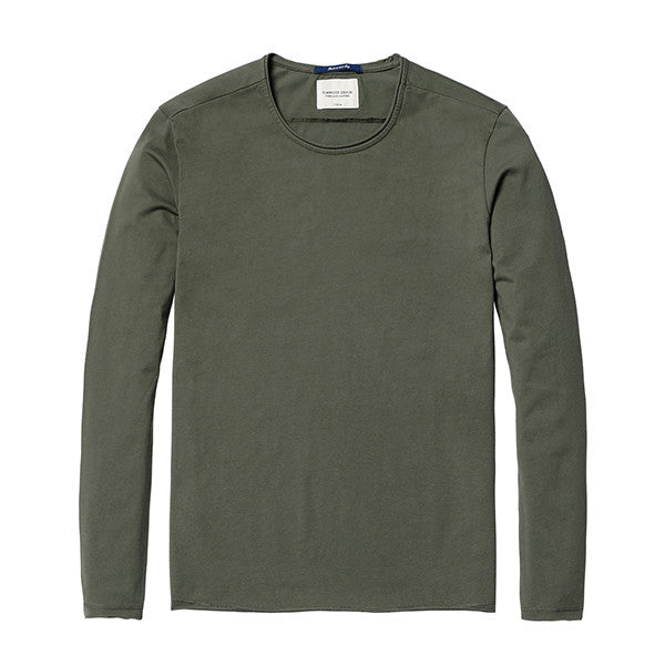 Spring Long Sleeve T-Shirt-Shirt-SIMWOOD-army green 2nd-S-Venture Modern