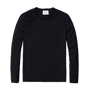 Spring Long Sleeve T-Shirt-Shirt-SIMWOOD-black 2nd-L-Venture Modern