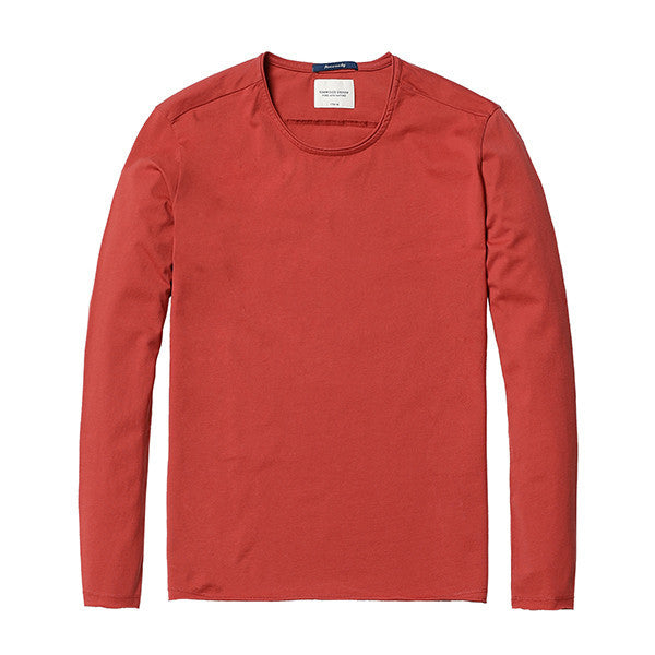 Spring Long Sleeve T-Shirt-Shirt-SIMWOOD-organe 2nd-L-Venture Modern