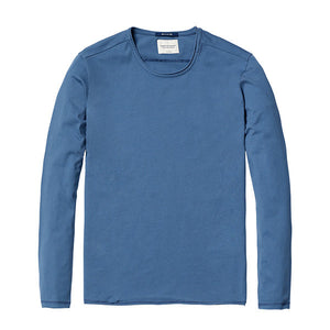 Spring Long Sleeve T-Shirt-Shirt-SIMWOOD-navy blue 2nd-S-Venture Modern