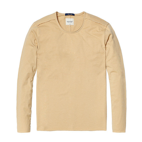 Spring Long Sleeve T-Shirt-Shirt-SIMWOOD-khaki yellow 1st-L-Venture Modern