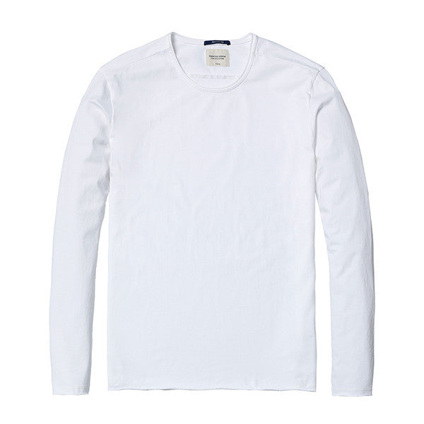 Spring Long Sleeve T-Shirt-Shirt-SIMWOOD-white 2nd-S-Venture Modern