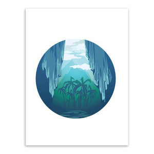 Modern Adventure Canvas Art Poster-Canvas-Venture Modern-13x18 cm No Frame-scenery Coconut tree-Venture Modern